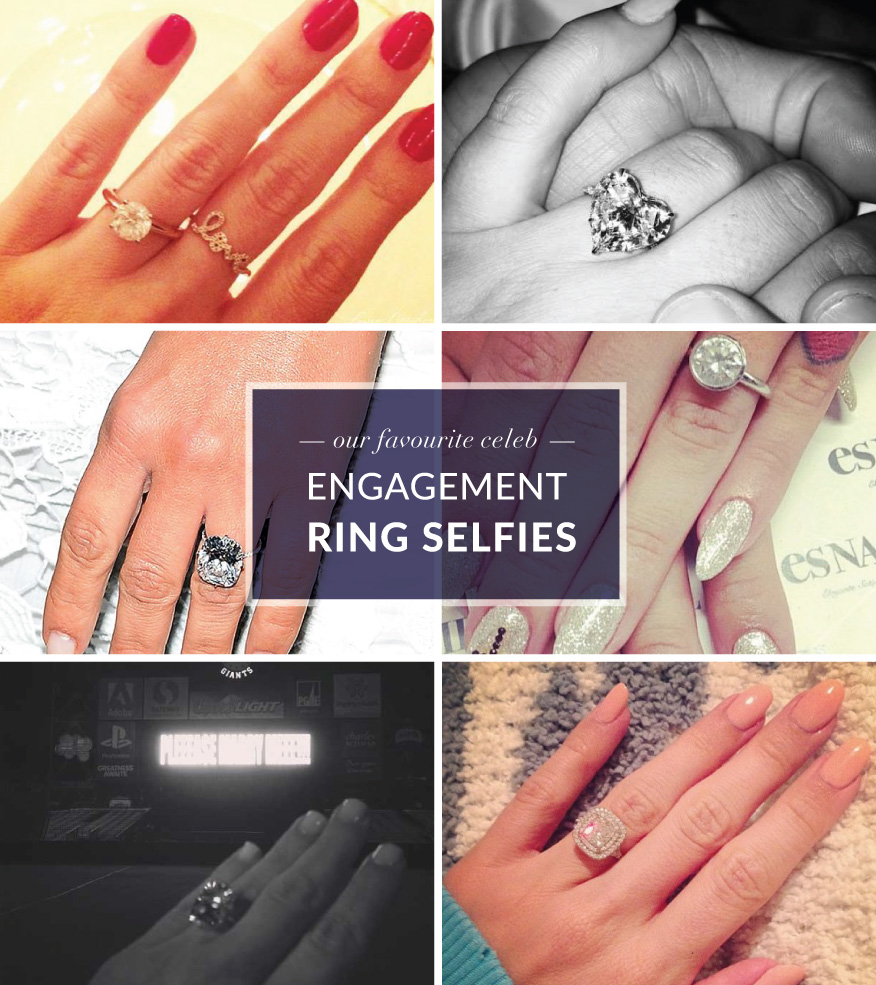 Celeb Engagement Ring Selfies
