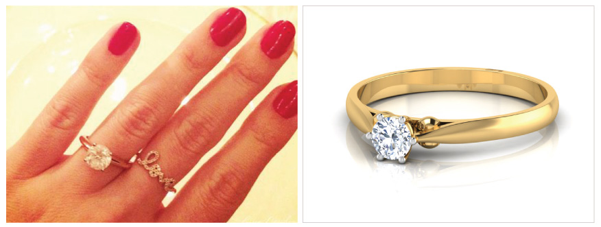 Lauren-Simple Solitaire Ring