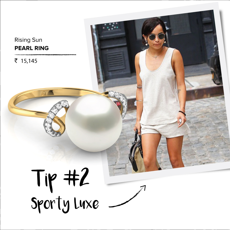sporty luxe-Pearl Ring