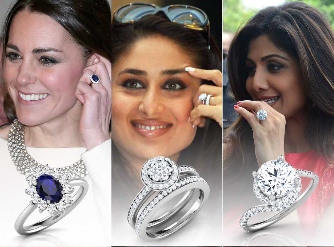 The Best Celebrity Engagement Rings | Brides