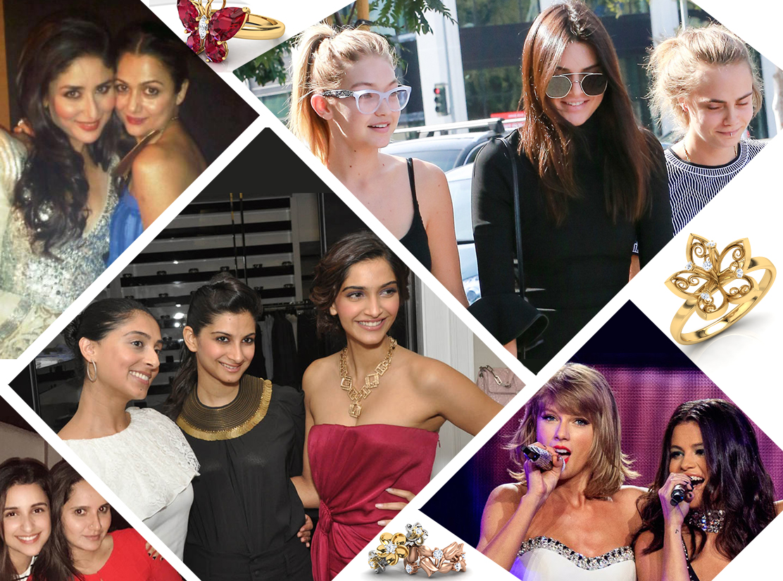 Celeb #girlsquads and their bauble style
