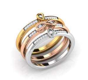 mixed-metal-stackable-engagement-ring