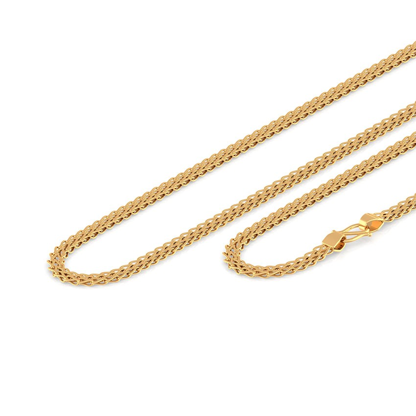 Finery Foxtail Gold Chain Jewellery India Online - CaratLane.com