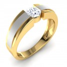 Dual Tone Solitaire Ring Mount for Him